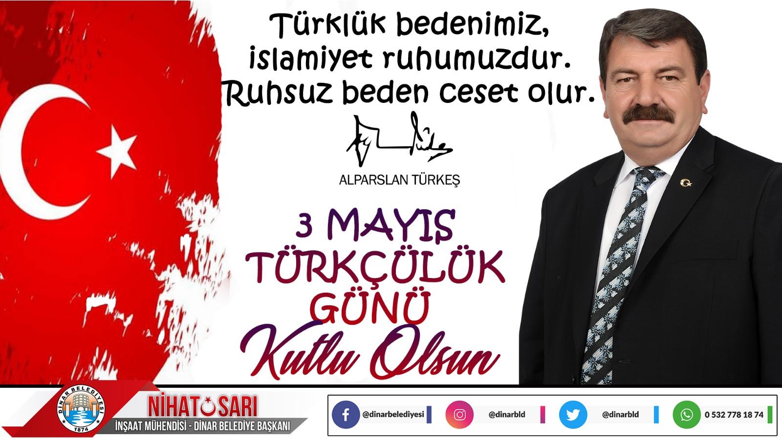 Başkan Sarı'dan Türkçülük Günü mesajı