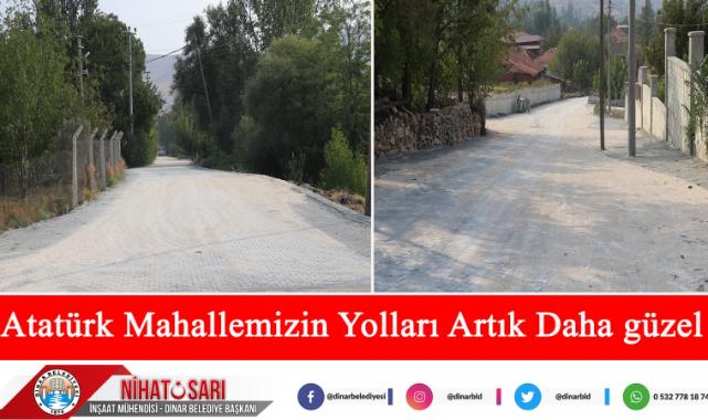 Başkan Sarı, '' Atatürk Mahallemizin yolları artık daha güzel oldu''
