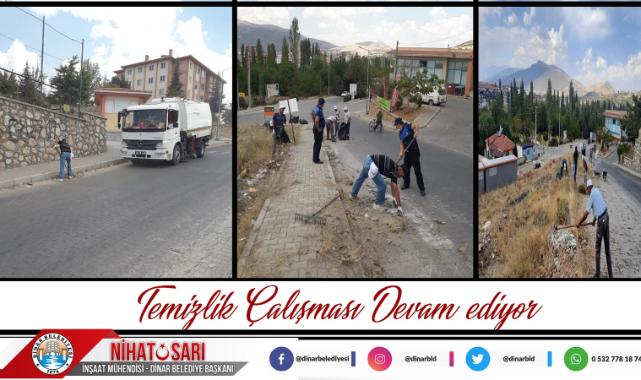 Belediyemiz temizlik çalışmalarını sürdürüyor